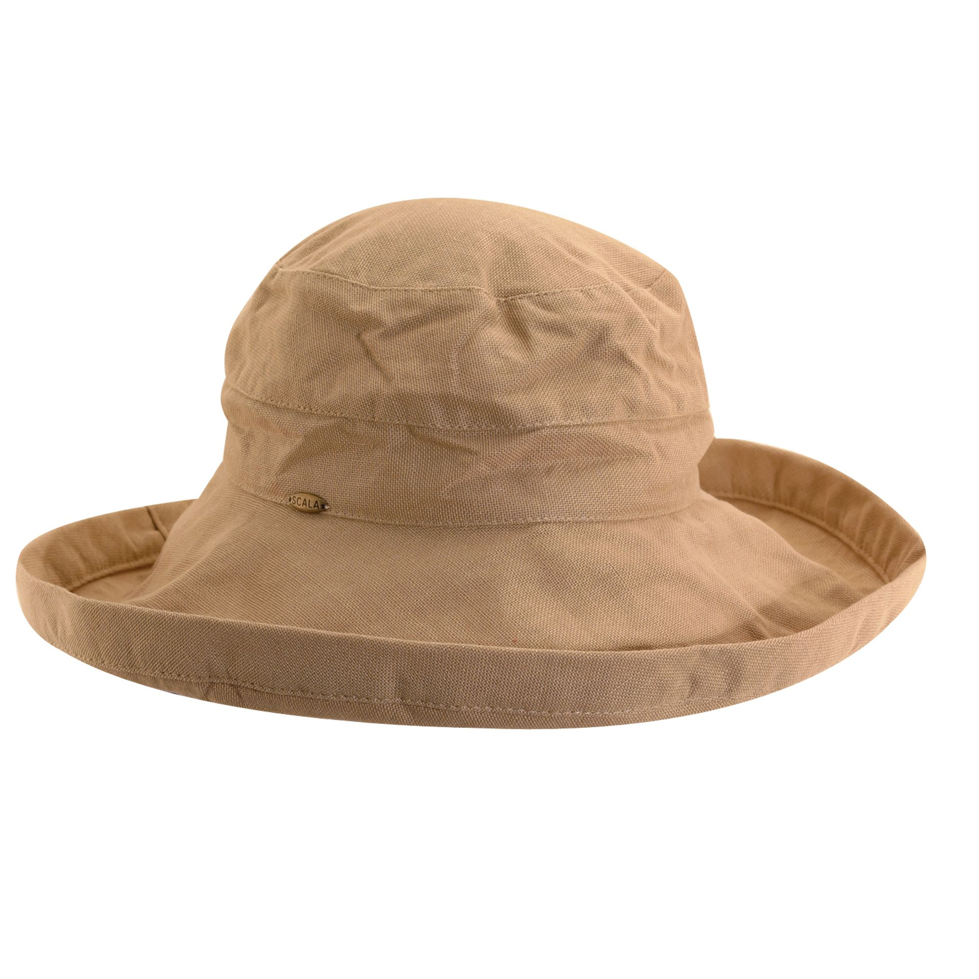 Scala Women s Cotton 4 Inch Brim UPF 50+ Travel Sun Hat  fa9af42e39a