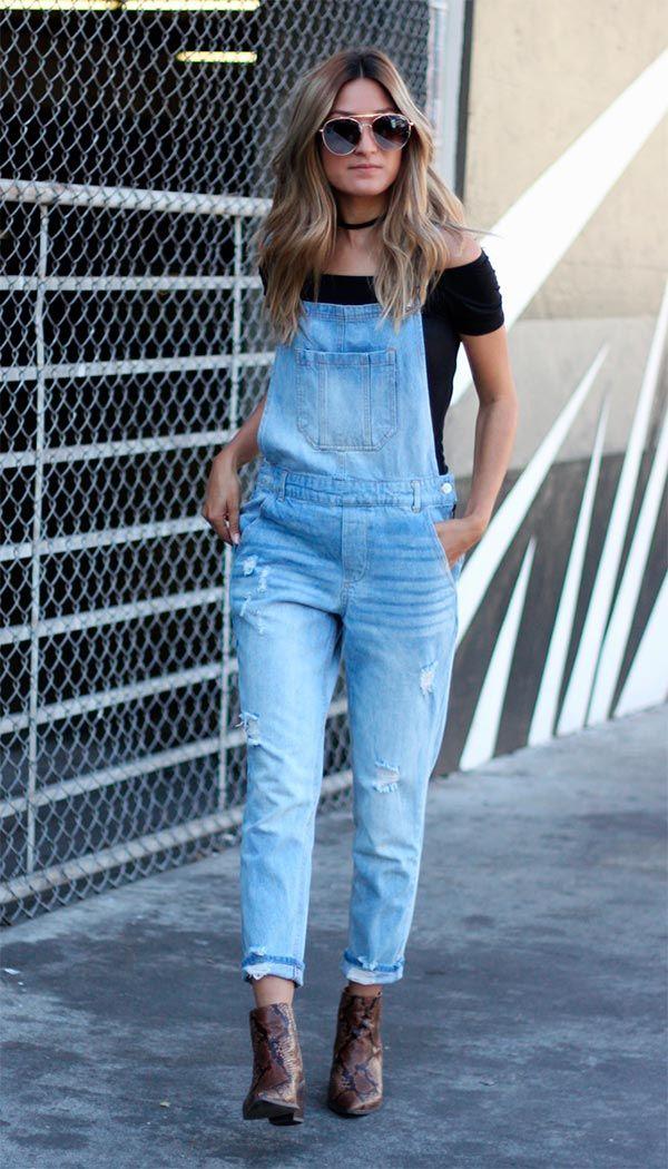 fb0a471c9de1eb 9 formas de usar macacão nesse verão | Women Beauty | Macacão jeans ...