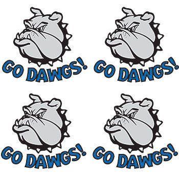 Go Dawgs! Blue Temporary Tattoos.