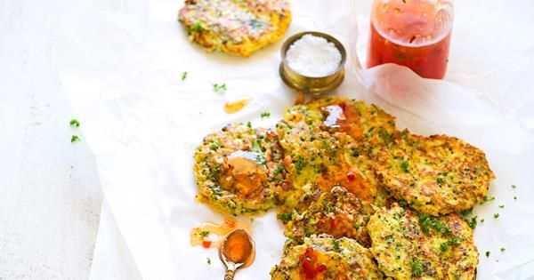 Broccoli and haloumi fritters - Fritters -