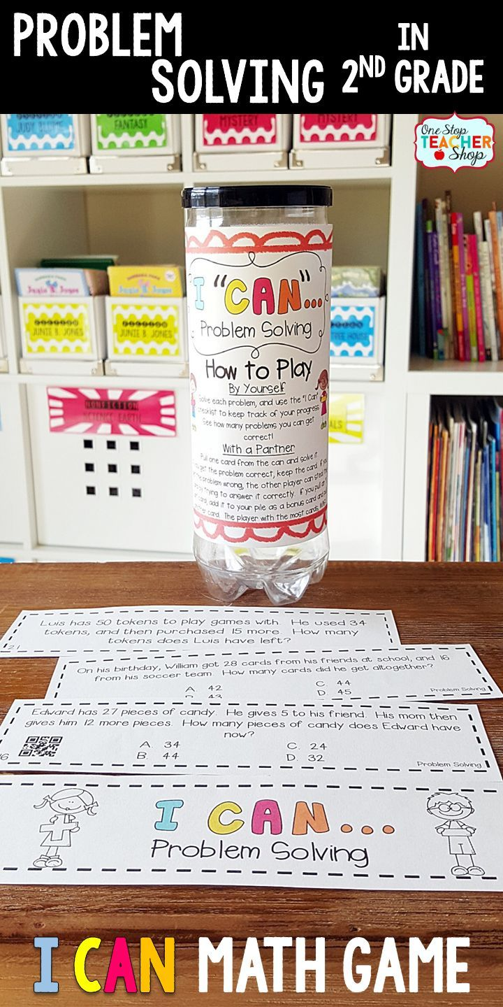 2nd Grade Problem Solving Game | One and Two Step Word Problems ...