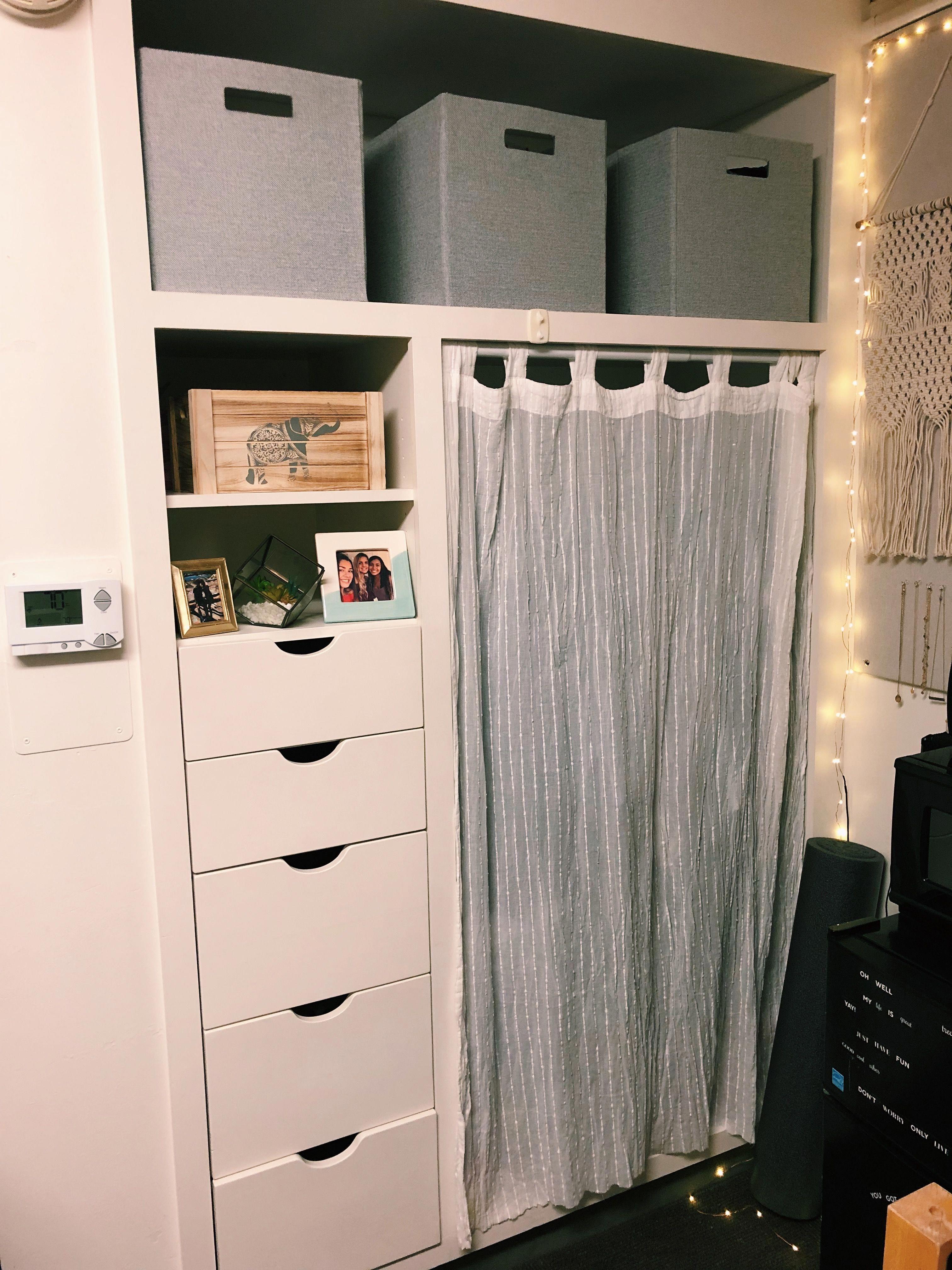 Dorm Room Closet: Dorm Closet, UC Davis, Dorm, Dorm Room, Dorm Decoration