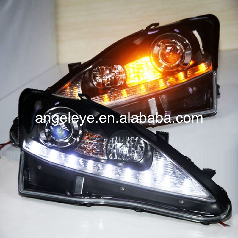 2006 2010 Year For Lexus For Is250 Led Head Lamp Headlights Front Light Black Housing Silver Reflector Jy Car Lights Lexus Lexus Is250