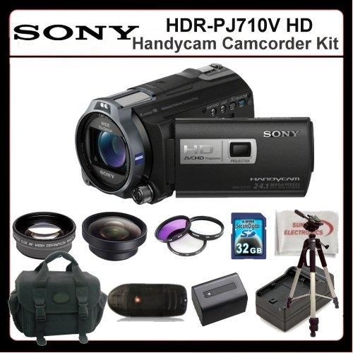 "Sony HDR-PJ710V Camcorder Kit Includes:Sony HDR-PJ710V High Definition Handycam Camcorder (Black), 2X Telephoto Lens, 0.45X Wide Angle Lens, 3 Piece Filter Kit(UV-CPL-FLD), Extended Life Battery, Rapid Travel Charger, 32GB Memory Card, Memory Card Reader, 72"" Tripod, Large Carrying Case & SSE Microfiber Cleaning Cloth - http://yourperfectcamera.com/sony-hdr-pj710v-camcorder-kit-includessony-hdr-pj710v-high-definition-handycam-camcorder-black-2x-telephoto-lens-0-45x-wide-a"