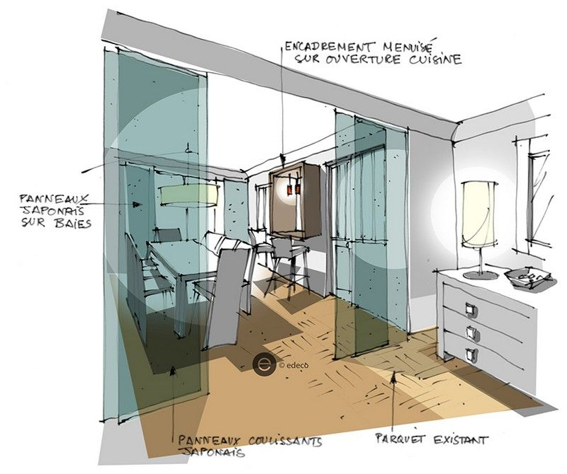 Réalisation Edeco  Rénovation du0027un appartement parisien Home