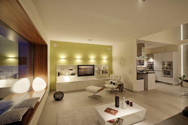 Gemütliche Innenbeleuchtung * Wohnzimmer * Lightnings * Livingroom * Luxhaus