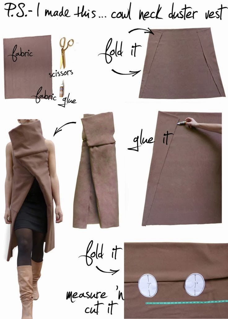 cowl neck duster vest | Beautiful clothes | Pinterest