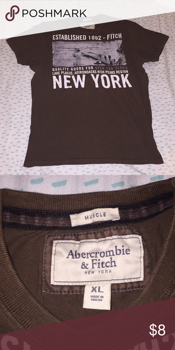 917a9f93 Abercrombie & Fitch Muscle Tee Brown muscle tee. Tops Muscle Tees ...