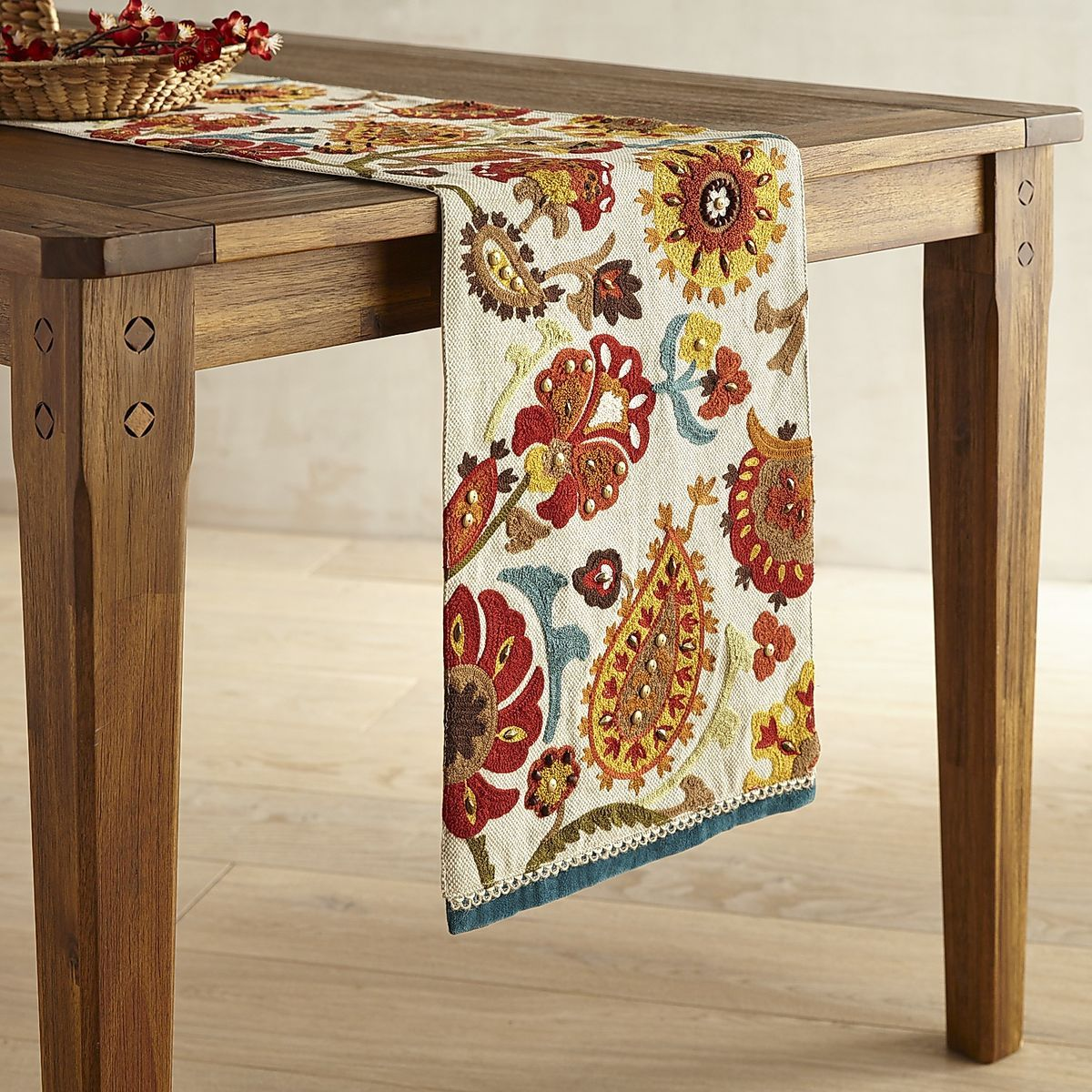 Embroidered Foliage Paisley Table Runner Pier 1 Imports