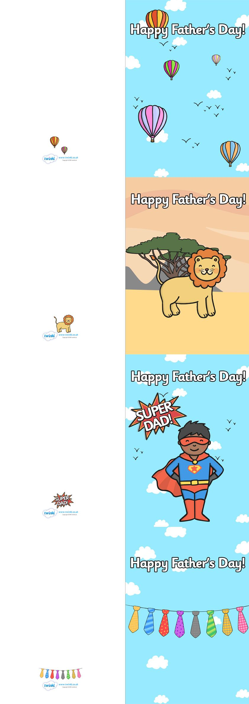 Fathers Day Card Template  Pop over to our site at wwwtwinklco