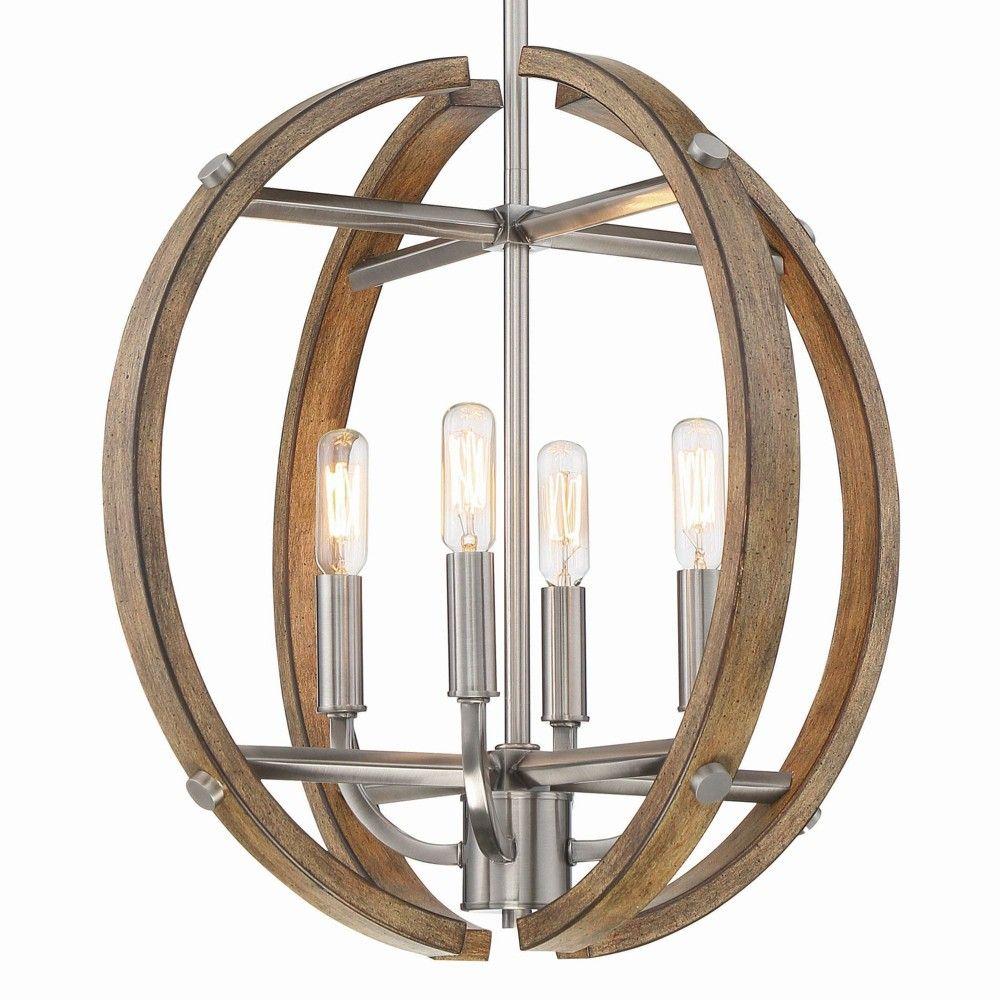 Minka Lavery 4012 Country Estates 4 Light 17 Wide Globe Chandelier Sun Faded Wood Brushed Nickel Globe Chandelier Minka Lavery Chandelier Brushed nickel globe chandelier
