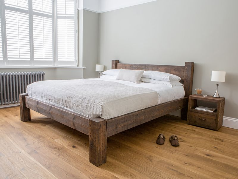 Best Hudson Bed With Low End In 2020 Rustic Wooden Bed 640 x 480