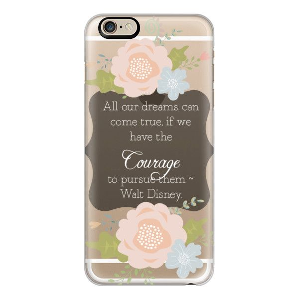 Courage and Dreams Walt Disney Motivational Graduation - iPhone 7... ($40) ❤ liked on Polyvore featuring accessories, tech accessories, phone cases, cases, disney, iphone case, slim iphone case, iphone cases, iphone cover case and apple iphone case