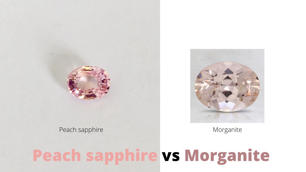 Peach sapphire vs Morganite