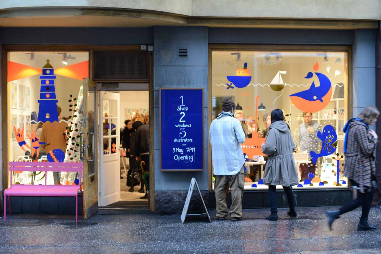 Thank you everyone for joining us at the opening of our window display illustration last night at Kauniste! If you missed the party, you can see the illustration byKrista Kärki, Anna Sofia Vuorinenand me on the Kauniste shop windows in Helsinki until the end of May.  kauniste:  Thank you all for coming to the Beyonderground festival party despite the pouring rain! Leena Kisonen, Anna Sofia Vuorinen and Krista Kärki had been real busy bees cutting shapes for the windows, and the guests…