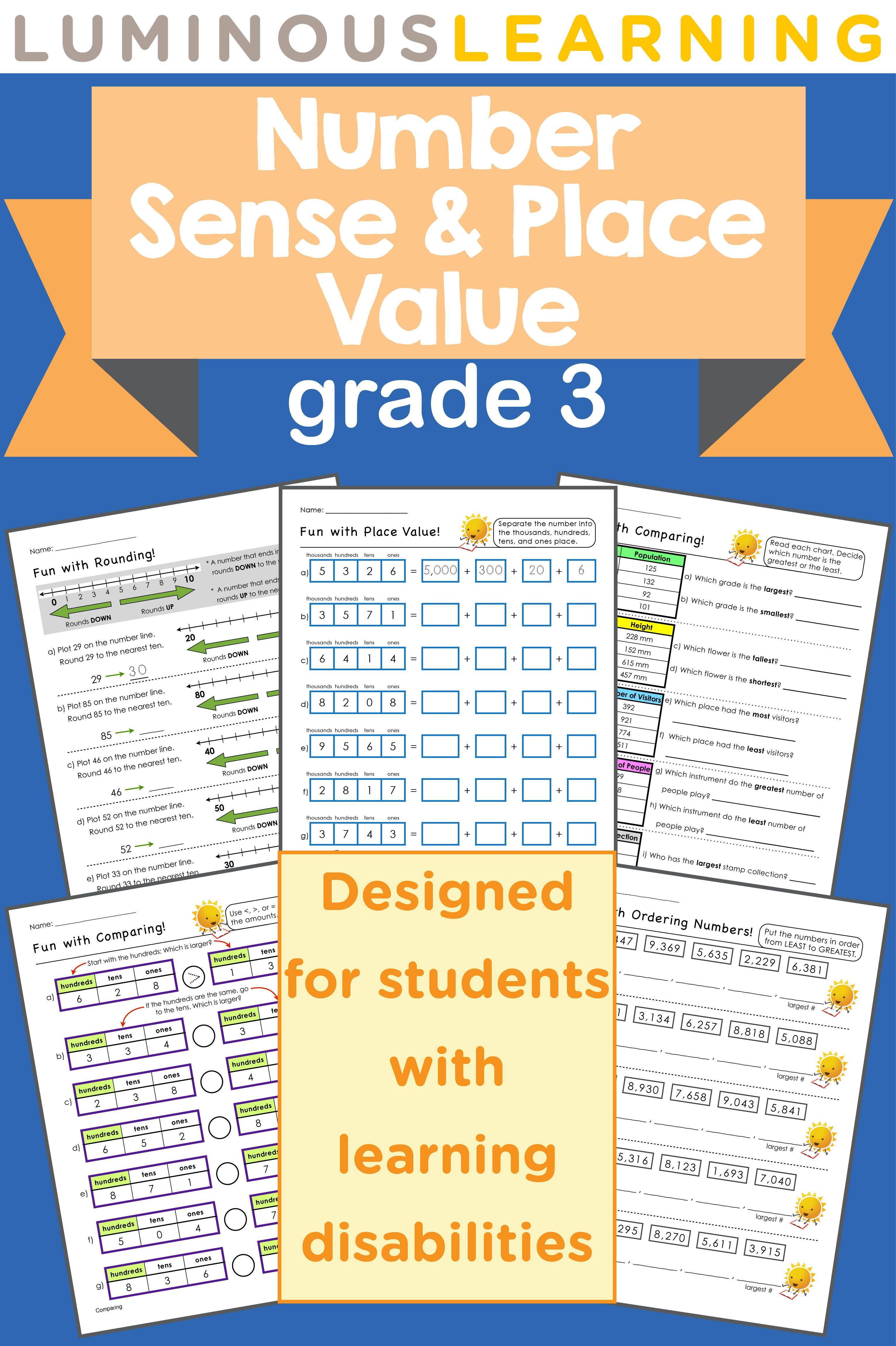 Grade 3 Number Sense And Place Value Workbook In