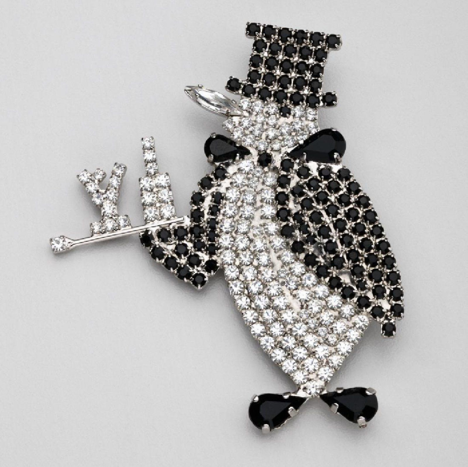 from s collar beautiful semi brooches precious item new brooch women penguin enamel in inlaid stones jewelry recommended corsage accessories