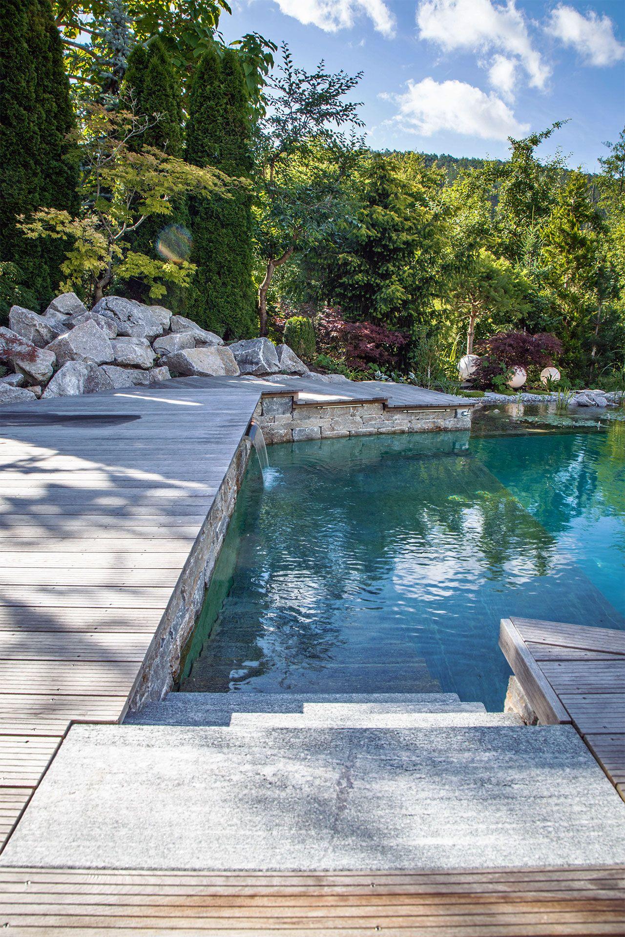 Mit Steinen Ummantelt Statt Mit Folie KALHOFER   Gartengestaltung,  Schwimmteiche, Landschaftsbau   Garten