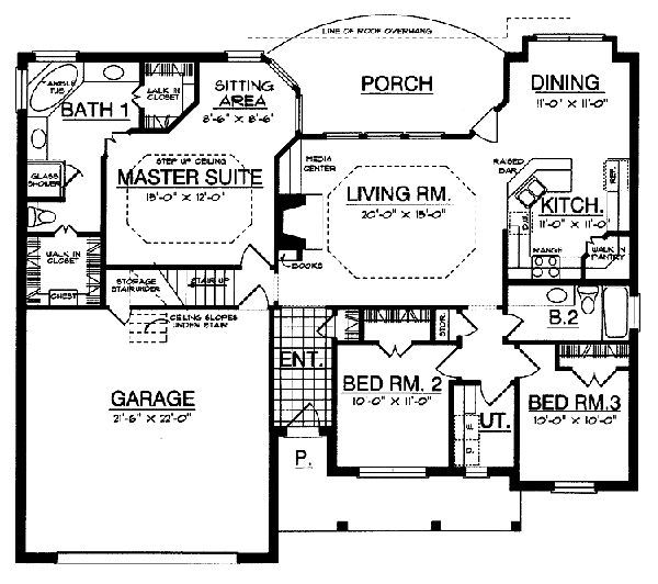 Floor plans with sitting area in master bedroom www for Master bedroom with sitting area floor plan