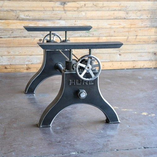 Hure Crank Table Base By Vintage Industrial Furniture