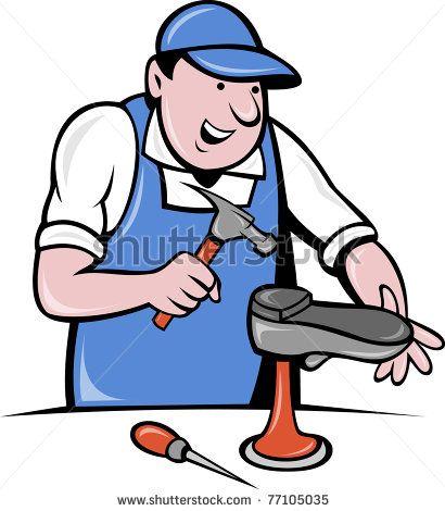 illustration of a shoemaker , cobbler shoe repair working on - shoe repair sample resume
