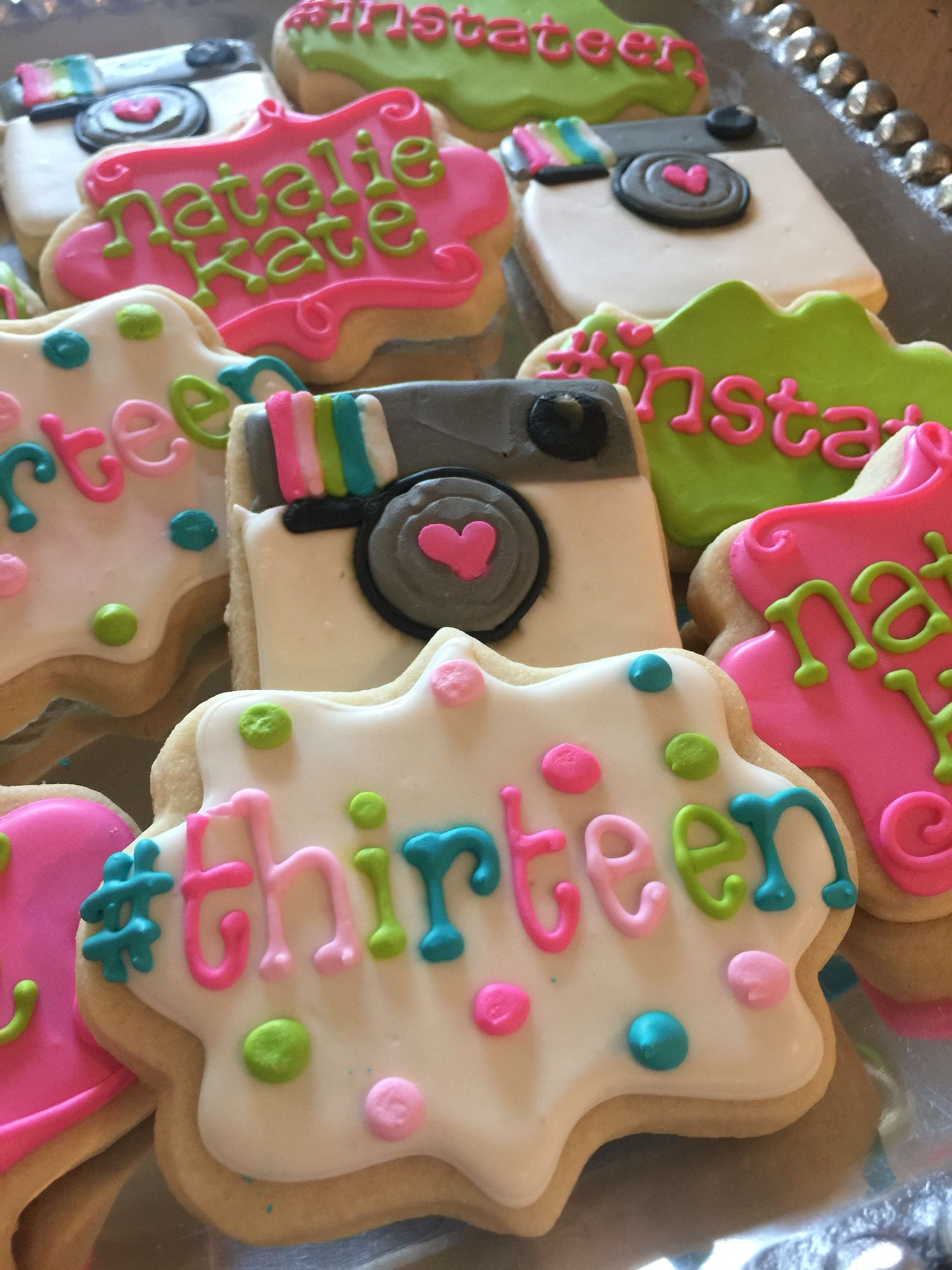 13Th Birthday, Cookies, Boards, Biscuits, Sugar, Biscuit, Biscotti, Cookie
