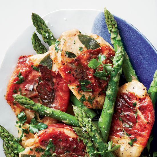 Chicken Saltimbocca With Asparagus Recipe Chicken Pinterest