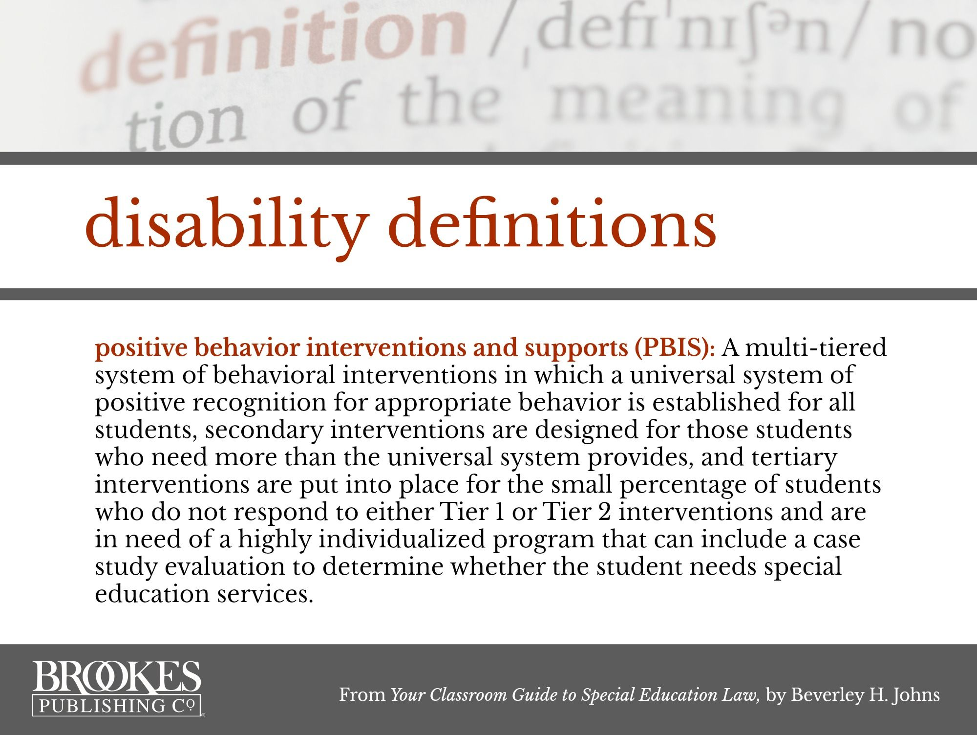 disability definitions: pbis. | behavior | pinterest | definitions