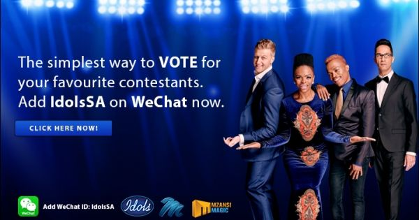 Download WeChat on your iPhone and add WeChat ID: IdolsSA to vote