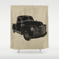 Old Style Vintage Chevy Shower Curtain