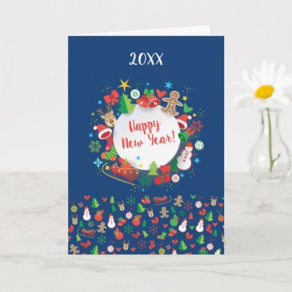 Kylie Richardsons Christmas Card 2021 2021 Happy New Year Christmas Winter Holiday Card Zazzle Com Holiday Cards Happy Holiday Cards Xmas Greeting Cards