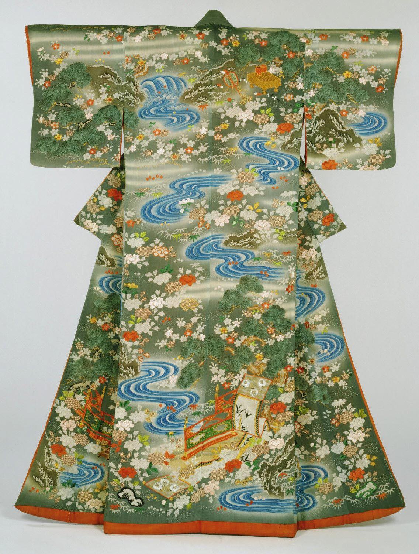 Woman's Kimono (Kosode) Artist/maker unknown, Japanese