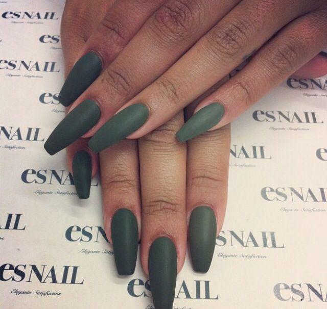 Dark green | Nails | Pinterest | Dark, Nail inspo and Makeup