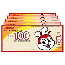 Php1,000 Peso Jollibee Cash Gift Certificate  Valid in any Jollibee Stores nationwide and applicable in all types of transactions.  Comes in 10 pcs. Php100 Peso Denomination.