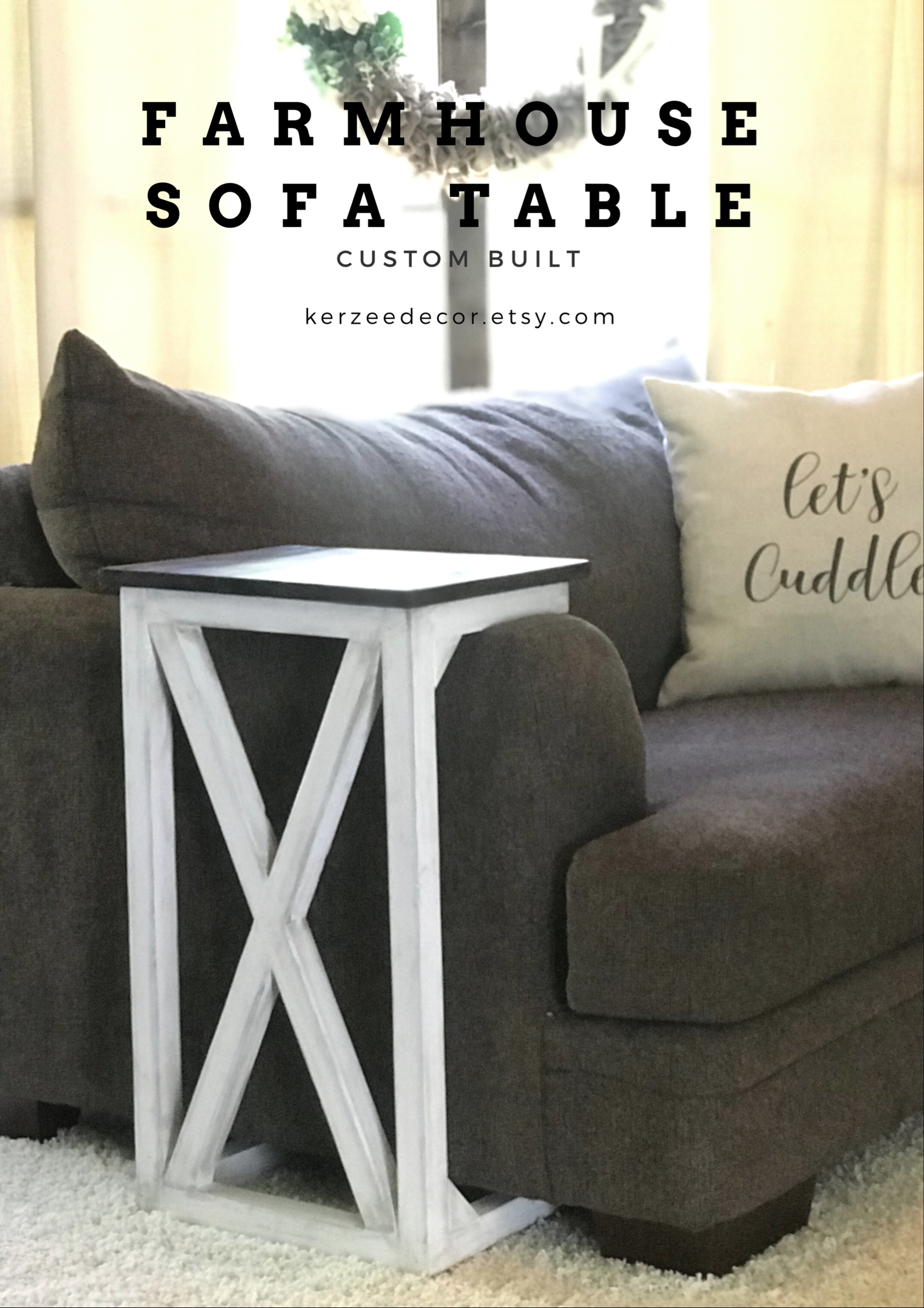 Sofa Arm Table Farmhouse Table Laptop Table End Table Rustic Sofa Side Table Rustic Sofa Sofa Arm Table Farmhouse Sofa