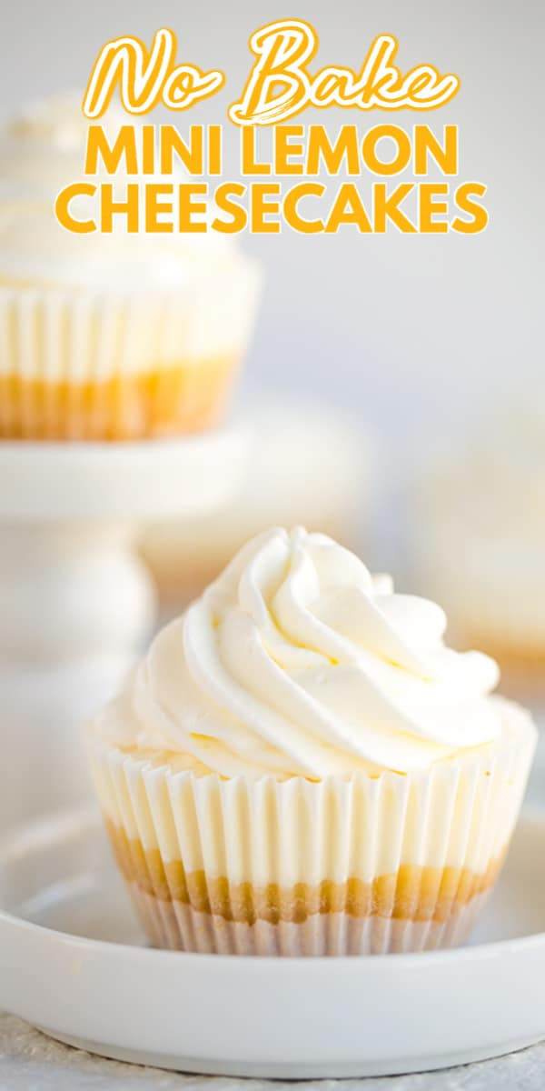 Photo of No Bake Mini Lemon Cheesecakes – Craving a delicious lemon dessert that you're c…