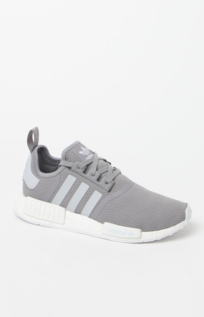 9a458d991a85 NMD R1 Grey   White Shoes
