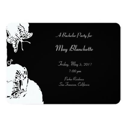 #bachelorette #party #invitations - #Butterflies Bachelorette Party Card