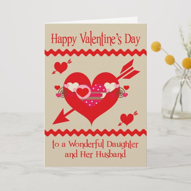 Valentine's Day To Daughter And Her Husband Holiday Card