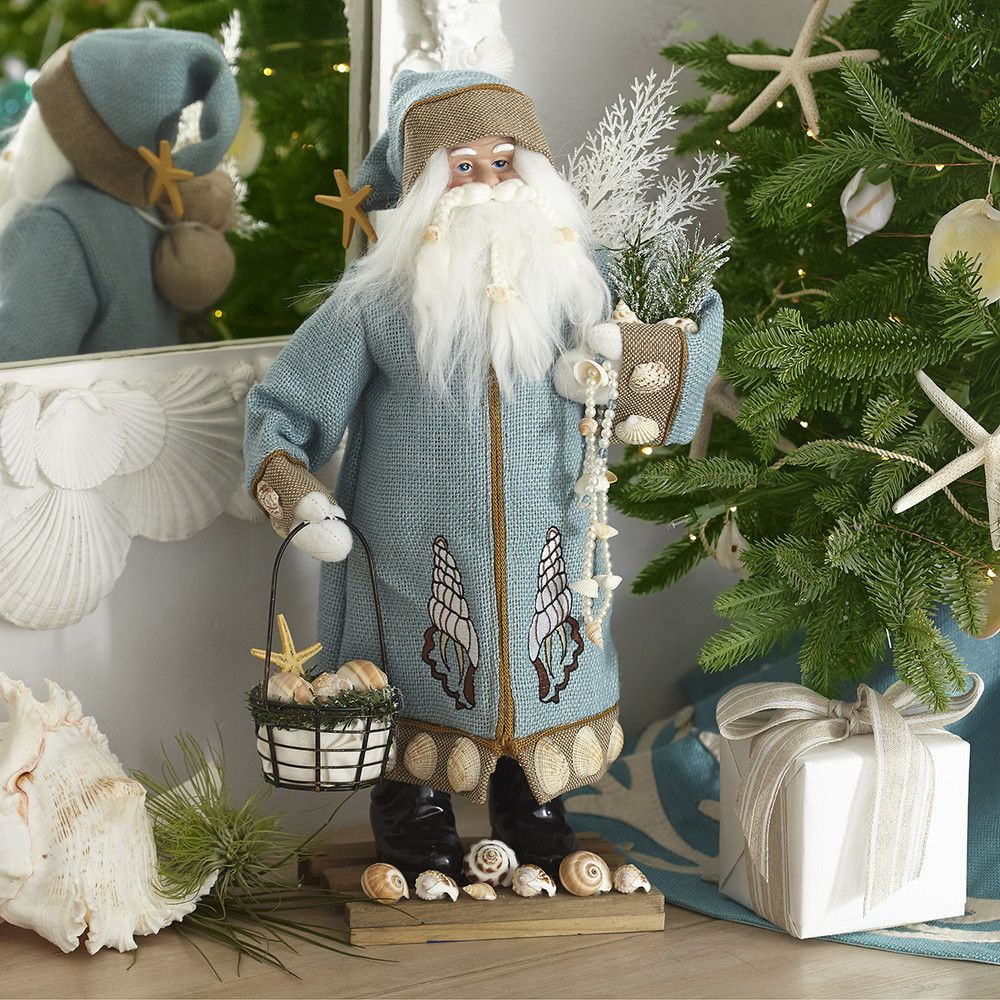 Coastal christmas decor - Seaside Santa L Coastal Christmas Decor L Www Dreambuildersobx Com