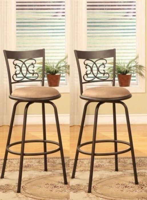 Cool Details About Swivel Bar Stools Adjustable Counter Height Cjindustries Chair Design For Home Cjindustriesco