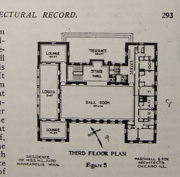 Gates Mansion Ballroom Level Mpls Mn Architectural Floor Plans Mansion Floor Plan Floor Plans