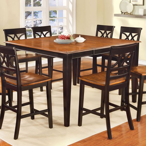 furniture of america betsy joan two tone counter height dining table - Breakfast Table And Chairs Set