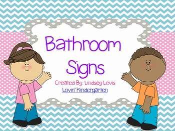Bathroom Signs For Kindergarten bathroom signs   *first grade   pinterest   kindergarten