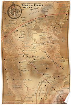 The Dark Tower - Mid-World Map\' Poster by OctoberFifteen | Stephen ...