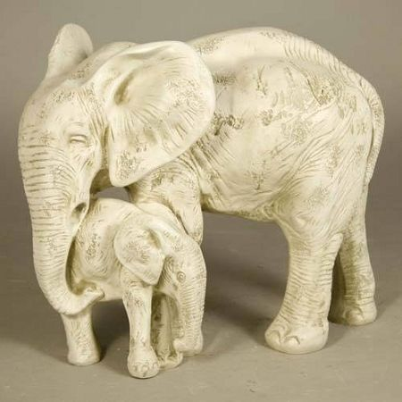 Elephant With Baby Statue Bull Elephant Elephant 640 x 480