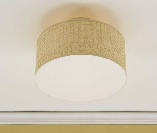 This Is A Clip On Bulb Drum Shade For The Ceiling What A Great
