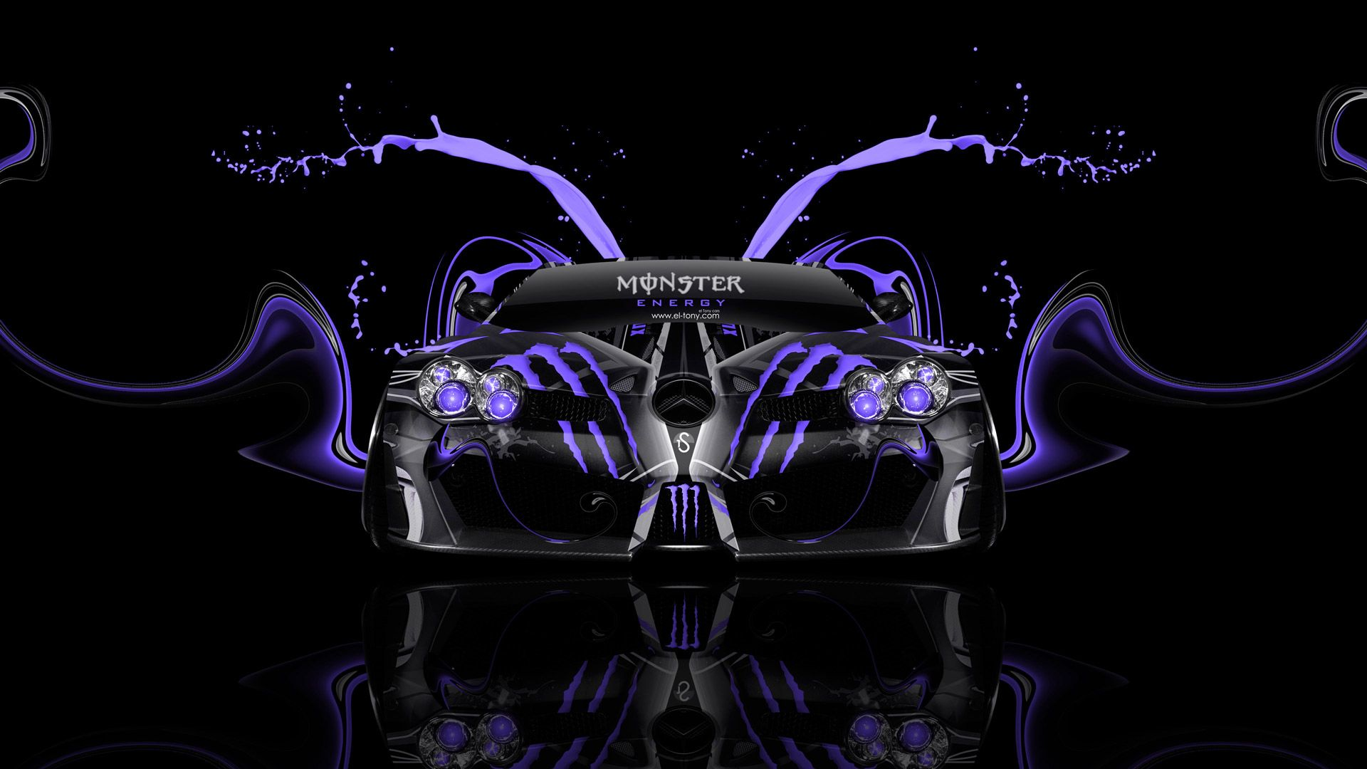 Charmant McLaren P1 Monster Energy Mercedes Benz SLR McLaren Plastic