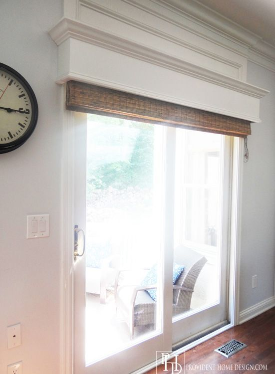 Blind For Door Window Part - 18: Home Decorating Ideas - Window Treatments. Built-in Cornice Board That  Hides Matchstick Blinds