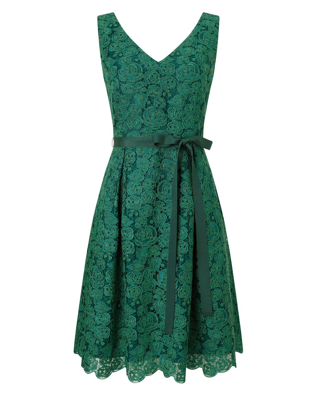Sale Emerald Green Cocktail Dress